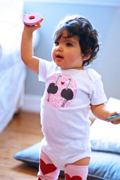 Olive the OSTRICH  Baby GIRL Bodysuit 018 Months by boboandcoco, $15.00