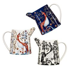 The iittala Taika 17 oz. Pitcher makes an excellent addition to any iittala dinnerware collection. Perfectly petite, these porcelain pitchers are versatile.