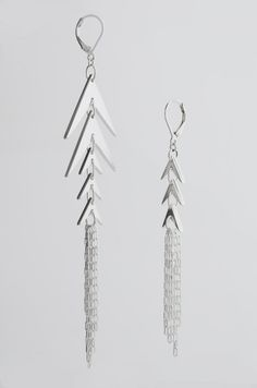 """Vibrations"" hand fabricated sterling silver earrings by, Melanie Clarke"