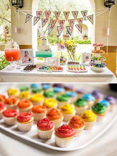 Rainbow UP Inspired First Birthday Party