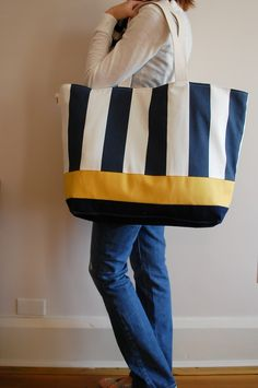 EXTRA Large Beach Bag by LucyJaneTotes on Etsy