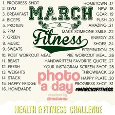 fitness photo a day challenge - Google Search