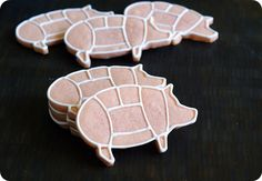 Pork Cuts cookie cutter.