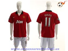 Manchester United Maillot Giggs 11 Domicile 2013-2014 FT222