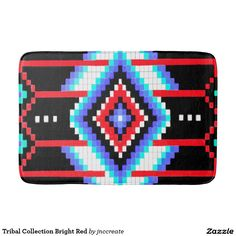 Tribal Collection Bright Red Bath Mats