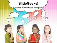 Multiethnic Group Children PowerPoint Backgrounds And Templates 1210 #PowerPoint #Templates #Themes #Background