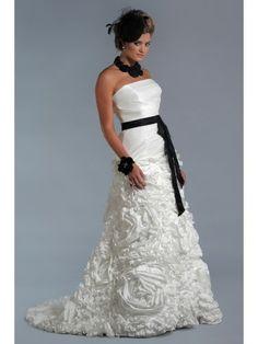 Taffeta Square Neckline Overlay Bodice A-line Wedding Dress