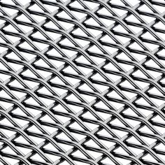 Banker Wire Mesh is a fine rectangular Plain Crimp that creates an up close detail that is not seen in other crimp style combinations. Low percent open area makes this a nice design material for light filtration or infill panels at wood cabinetry. Net Making, Metal Net, Wire Mesh, Cool Designs, Architecture, Pattern, Texture, Detail, Google Search