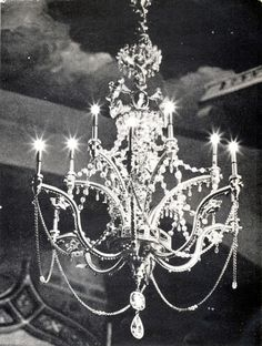Drawing Room chandelier from Colleen Moore's Fairy Castle.  Made by jeweler H.B…