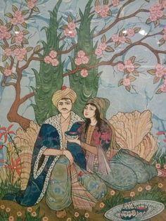Ömer Faruk Atabek - Rubaili Çalışma (Kat'ı) - detay Islamic World, Islamic Art, Middle Eastern Art, Iranian Art, Arabian Nights, Old Art, North Africa, Chinese Art, Traditional Art