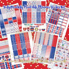 NEW!!!! July Printable Planner Stickers Monthly Kit 700+ Stickers pdf and 7 jpeg Erin Condren Life Planner Kikkik Filofax
