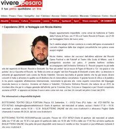 Vivere Pesaro - 28 dicembre 2015