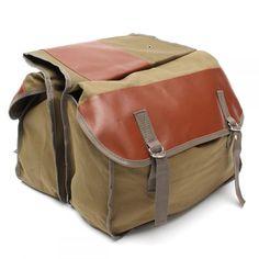 Saddle Bag Back Pack Side Storage for Haley Sportster Honda Suzuki Tail Equine