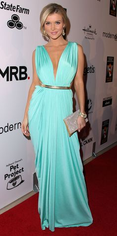 Joanna Krupa.. mint green Michael Costello Couture