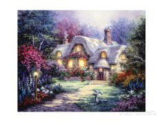Garden Cottage Giclee Print by Nicky Boehme at AllPosters.com