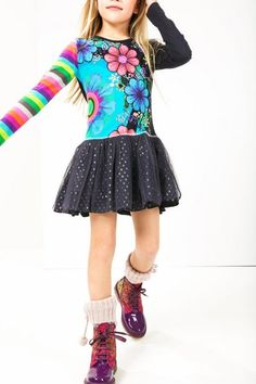 Desigual Girls' organic cotton dress. Our collection wants to play, fancy joining in?