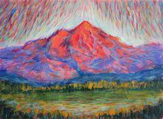 """Colorado Bound"" 12""x9"" acrylic, watercolour, on 140 lb paper original painting by Gwen Duda © 2016"
