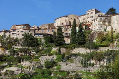 French Riviera, Medieval, Coast, France, Wall Art, Mansions, House Styles, Mid Century, Luxury Houses