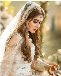 Pakistani Bridal Makeup, Bridal Hair And Makeup, Bride Makeup, Pakistani Dresses Casual, Pakistani Wedding Dresses, Wedding Dresses For Girls, Photoshoot Makeup, Bridal Photoshoot, Adriana Lima Lingerie