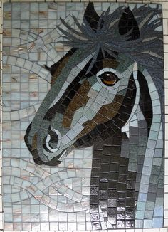 Horse Tile Art, Mosaic Art, Mosaic Glass, Mosaic Tiles, Glass Art, Mosaic Crafts, Mosaic Projects, Stained Glass Projects, Mosaic Designs