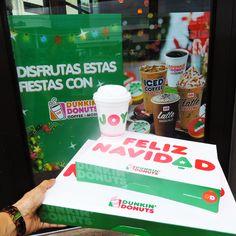 Receta de Navidad: Varias medidas de amistad, un pizca de amor y agregar varios donuts. Hornear con mucho ánimo y felicidad.#DunkinDonuts #navidad