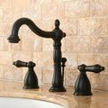 Victorian Widespread Oil Rubbed Bronze Bathroom Faucet | Overstock.com