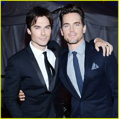 Funny how the 2 top guys for Christian Gray got their pic taken.. hmmmm coincidence?!  Matt Bomer & Ian Somerhalder - People's Choice Awards 2013