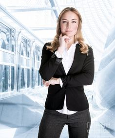 Ceo Print featuring the photograph Successful Business Woman by Anna Omelchenko