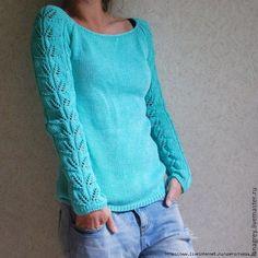Knitting pullover summer top pattern Ideas for 2019 Knitting Patterns Free Dog, Knitting Stitches, Knitting Designs, Hand Knitting, Top Pattern, Clothing Patterns, Knitted Hats, Knitwear, Knit Crochet