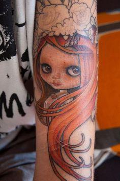 Increible.  Blythe tattoo by Oscar Asunción Luján
