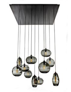 Clear Band Pendant collection by John Pomp Studios Wine Glass Chandelier, Chandelier Pendant Lights, Chandeliers, Funky Lighting, Kitchen And Bath Remodeling, Kitchen Remodel, Lighting Concepts, Kitchen Pendants, Glass Pendants