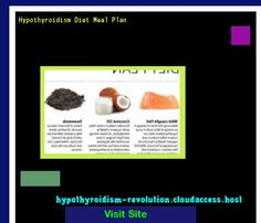 Hypothyroidism Diet Meal Plan 143004 - Hypothyroidism Revolution!