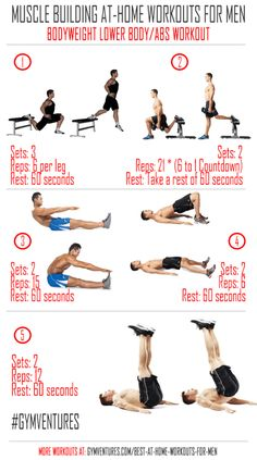 At Home Workouts For Men Bodyweight Lower Body