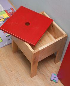 Woodworking DIY -  storage stool hard maple