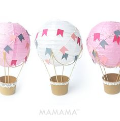 Whimsical Hot Air Balloon decorazione fai da te di mamamaonline