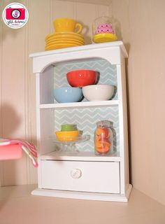 DIY American Girl Dining Room Armoire Cabinet. It's so easy!