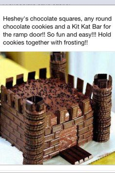 Chocolate Castle Cake - the easiest castle cake I've ever seen :)