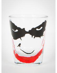 The Joker Face Clear Shot Glass