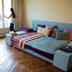 Un canapé-lit dans le salon - Marie Claire Maison