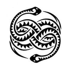 Native American Snake Tattoo