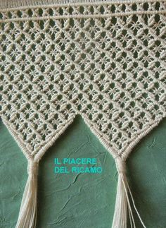 Macrame Bag, Macrame Knots, Micro Macrame, Crochet Scarf Diagram, Knit Crochet, Curtain Patterns, Macrame Tutorial, Macrame Projects, Macrame Patterns