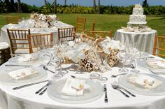 Tables Wedding Decoration For An Outdoor Party