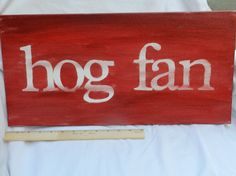 hog fan 10x20 hand painted canvas sign by thenotsoblankcanvas, $34.00