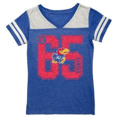 NCAA Kansas Jayhawks Girls' V-Neck Tunic Shirt - XS, Girl's, Multicolored