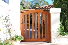 Self-Closing Gate Hinges//Wall or Post to Gate Little Outdoor Creations Traditionally Styled PER Pair