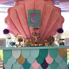 Don't miss this wonderful Under the Sea Birthday Party. The dessert table and backdrop are amazing!! See more party ideas and share yours at CatchMyParty.com