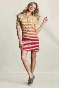 love it. Women's Sunwashed Striped Jersey Dress  from Lands' End Canvas