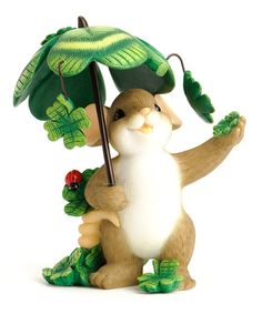 Take a look at this Clover Umbrella Mouse Figurine by Charming Tails on #zulily today! $12