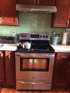 Kitchen Backsplash Pictures With Oak Cabinets kitchen with subway tile backsplash and oak cabinets - google