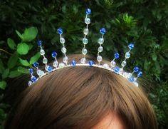 Tiara Crown Ice Princess Tiara Queen Crown by RoseMoonBoutique